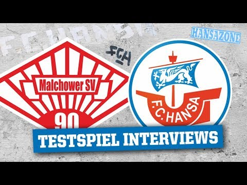Interviews nach dem Testspiel in Malchow